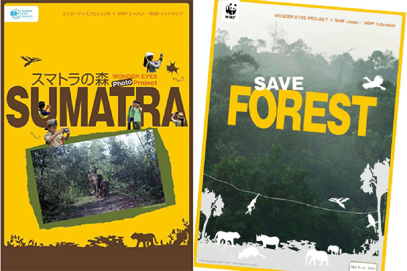 WWF x Wonder Eyes Photo project pamphlet of Sumatra Forest
